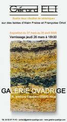 alain freixe, françoise oriot, Gérard Eli, Galerie Quadrige