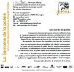 Semaine de la ^poésie, Clermont-Ferrand, freixe Alain