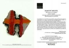 Martin Miguel, Galerie Depardieu