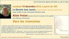 Alain Freixe, Vers les riveraines, librairie Jean Jaurès