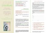 Atelier d'écriture, Jeanne Bastide, Voix du Basilic