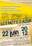 Poésie, lecture, Yves Ughes, Les mots d'azur