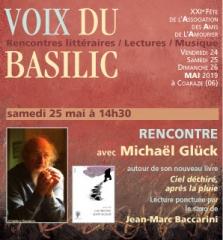 Voix du Basilic - Coaraze - le 25 mai 2019, Rencointre avec Michaël Glück