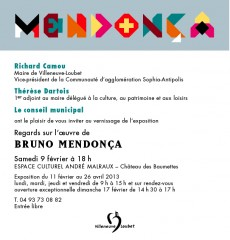 Invitation vernissage exposition Bruno Mendonça samedi 9 février 18h Villeneuve Loubet.jpg