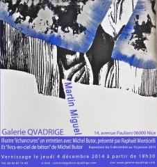Martin Miguel, Michel Butor, raphaël Monticelli, Galerie Quadrige